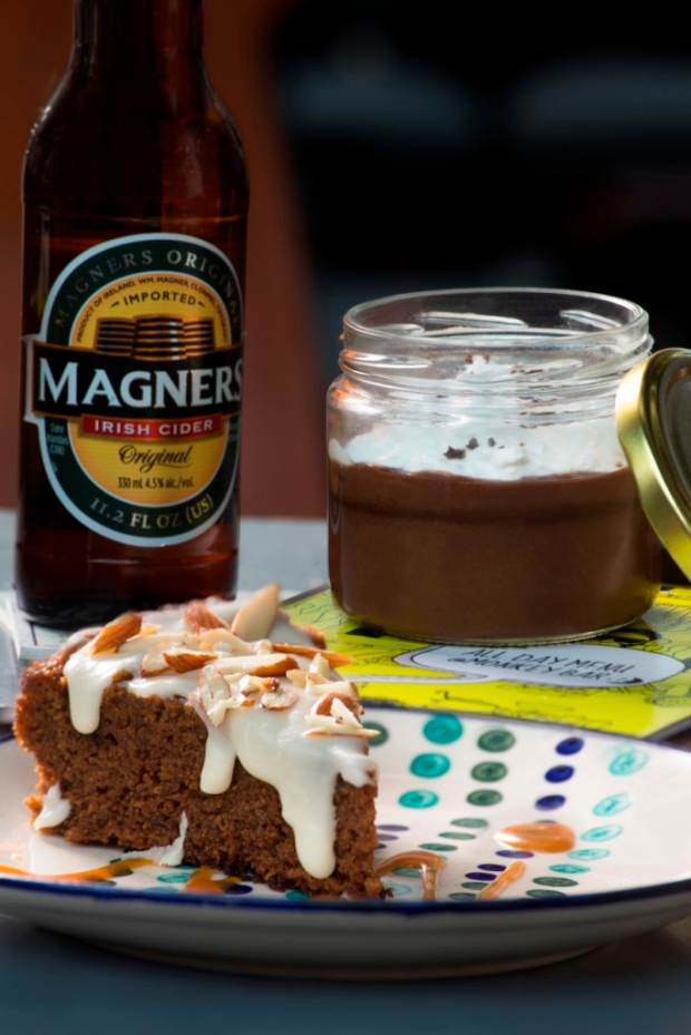 Spiced Honey & Ale Cake AND Chocolate & Stout Pudding,Photo courtesy Sanjay Ramchandran