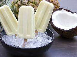 Coconut cream popsicle pina colada