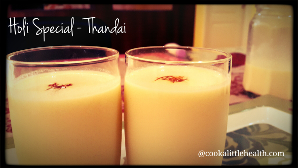 Thandai - A Holi special beverage with almond & spices!