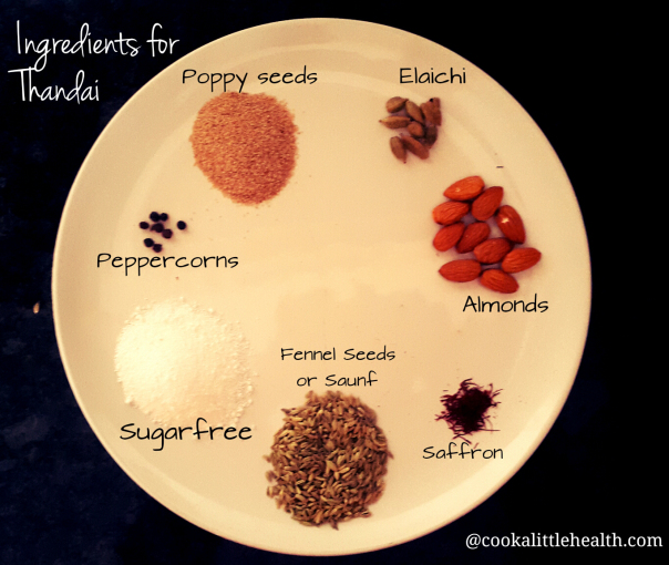 The core of the Thandai - awesome healthy dose of spices.